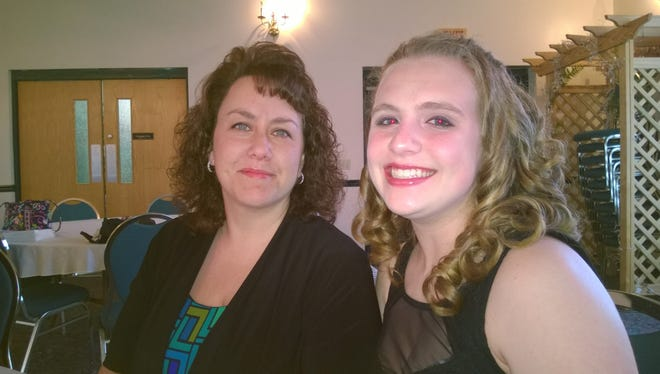 Amy Sullivan and Deiree Leffler were the guest speakers at the ABWA recent meeting.