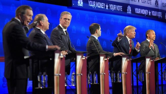 GOP presidential debate on Oct. 28, 2015.