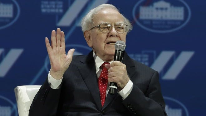 """Investor Warren Buffett during the """"United State of Women Summit"""" at the Washington Convention Center in Washington, D.C., on June 14, 2016."""