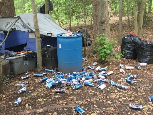 a homeless camp