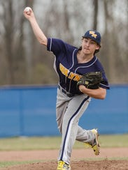 Wayne Memorial pitcher Colin Ramsey throws the baseball