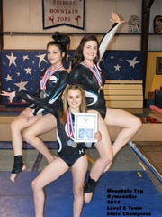 Level 5 gymnasts from Ruidoso earned a state championship Mar. 12-13.