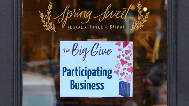 The Big Give will take place Saturday, Feb. 6. During the event, more than 30 participating businesses will donate 10 percent of all sales to local nonprofit organizations.