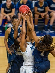 A member of the ASUN's  All-Freshman team, FGCU's Tytionia