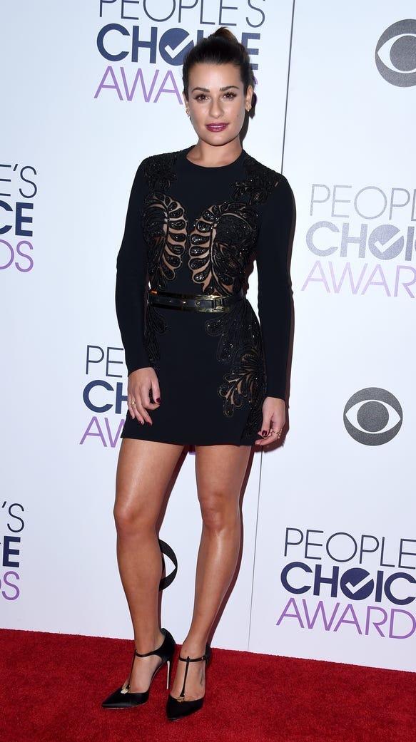 Lea Michele attends the People's Choice Awards.