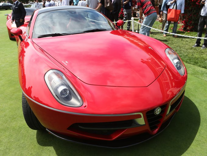 The Touring Superleggera Alfa Romeo Volante by Touring got a lot of attention at the Pebble Beach Concours D'Elegance