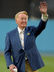 Vin Scully said this week he will not call any Dodgers postseason games and that his final game behind the microphone will be Oct. 2 at San Francisco.