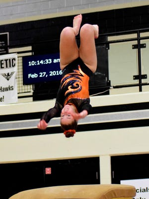 Casey Gittelman placed sixth at state in the bars last season and finished 18th overall at the state all-around.