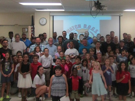 A great turnout of fathers and students marked the