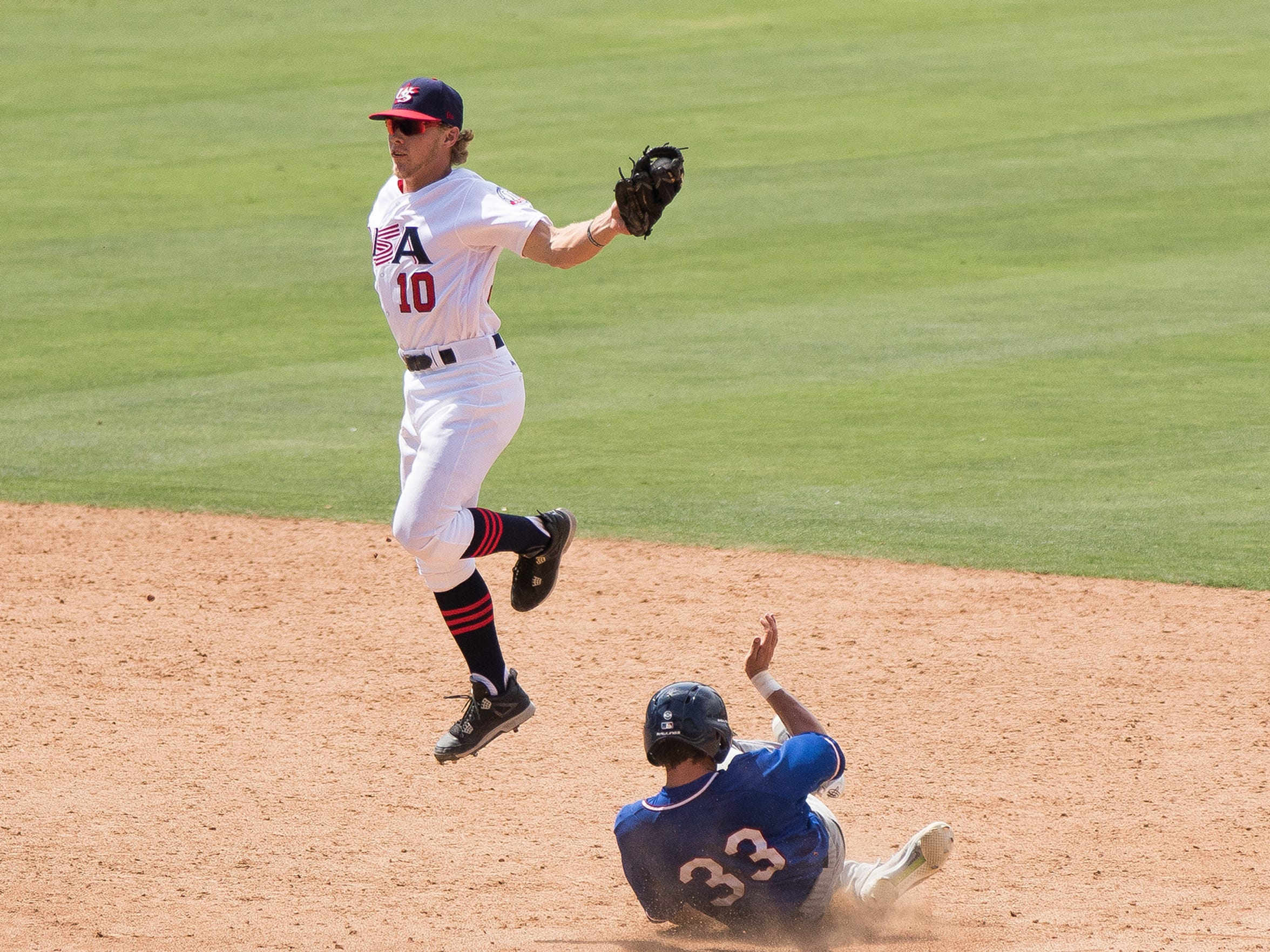 Walls is playing second base and hitting .233 this summer for Team USA.