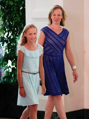 Fort Collins 10-year-old Hannah Skalicky and her mother, Cindy, arrive for the 2016 Kids State Dinner at the White House in Washington, D.C., on July 14, 2016.
