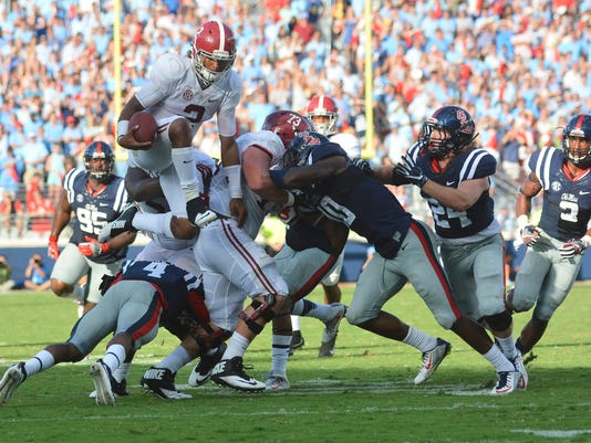 NCAA Football: Alabama at Mississippi