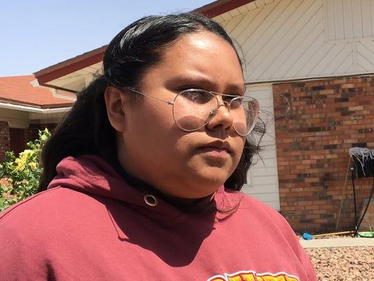 Daniela Ramirez, 14, and an eighth-grader at Parkland