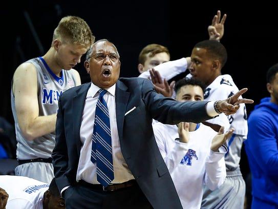 University of Memphis head coach Tubby Smith calls