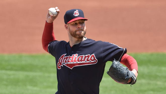 Corey Kluber tied a franchise record held by Bob Feller with four consecutive games with double-digit strikeouts.
