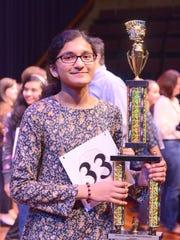 Danielle Serrao, an eighth grade student at Readington