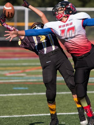 Jersey Shore Pop Warner action from this season.