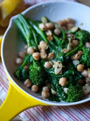 Garlicky Broccoli Rabe with Chickpeas is a simple recipe