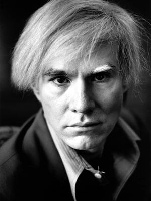 "This portrait of Andy Warhol by Michael Childers is featured in ""Photographs of Michael Childers: Having A Ball: Portraits of Andy Warhol at His New York Studio and Paris home."