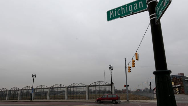 This is a view of the Tiger Stadium property on the corner of Michigan and Trumbull taken on Monday, Dec. 17, 2012, in Detroit.