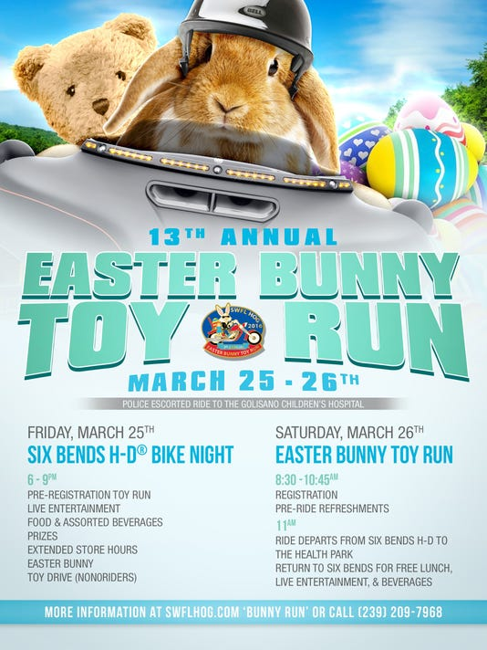 Six Bends Harley Davidson Hosts 13th Annual Easter Bunny Toy Run On