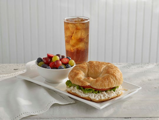 Chick Salad Croissant and grape salad from Chicken