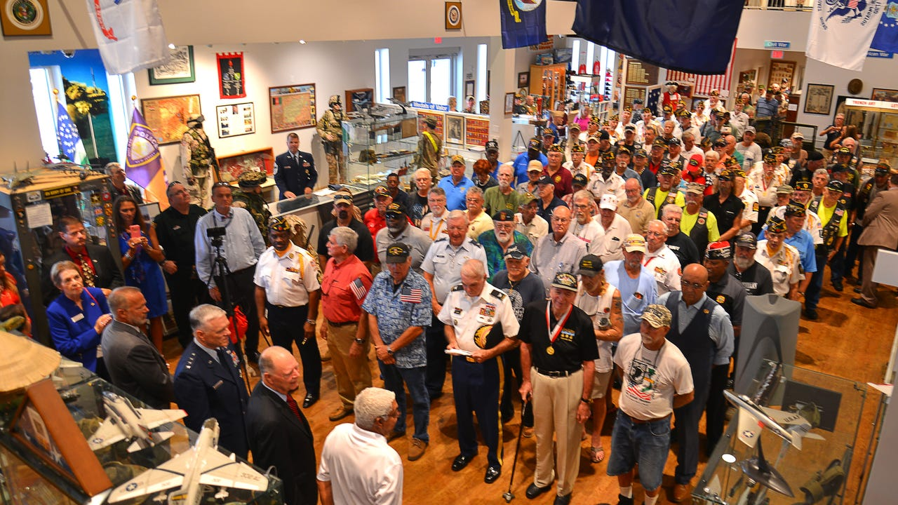 The Vietnam Veterans Service Day and Welcome Home Ceremony was held Tuesday at the Veterans Memorial Center and Museum on Merritt Island to give vets the welcome home they never received, plus a pinning ceremony. Video by Malcolm Denemark