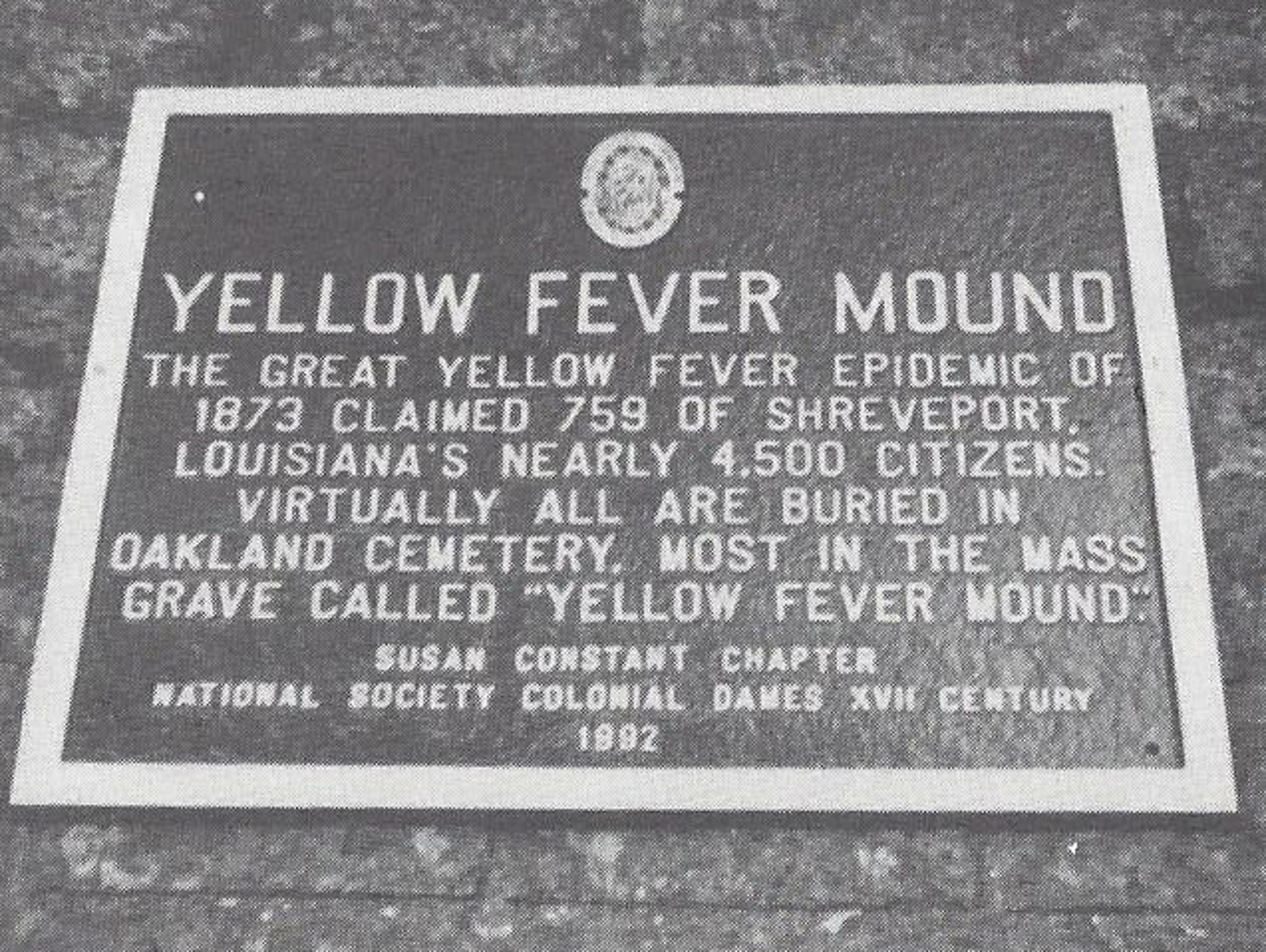 A place memorizing the Great Yellow Fever Epidemic