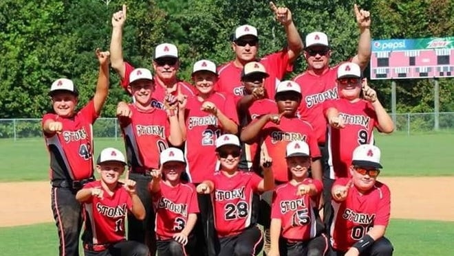 The Asheville Storm 11U baseball team and coaches.