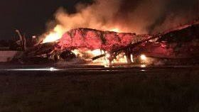 A semi fire closed the ramp from westbound I-70 to southbound I-65 at the North Split early Thursday.
