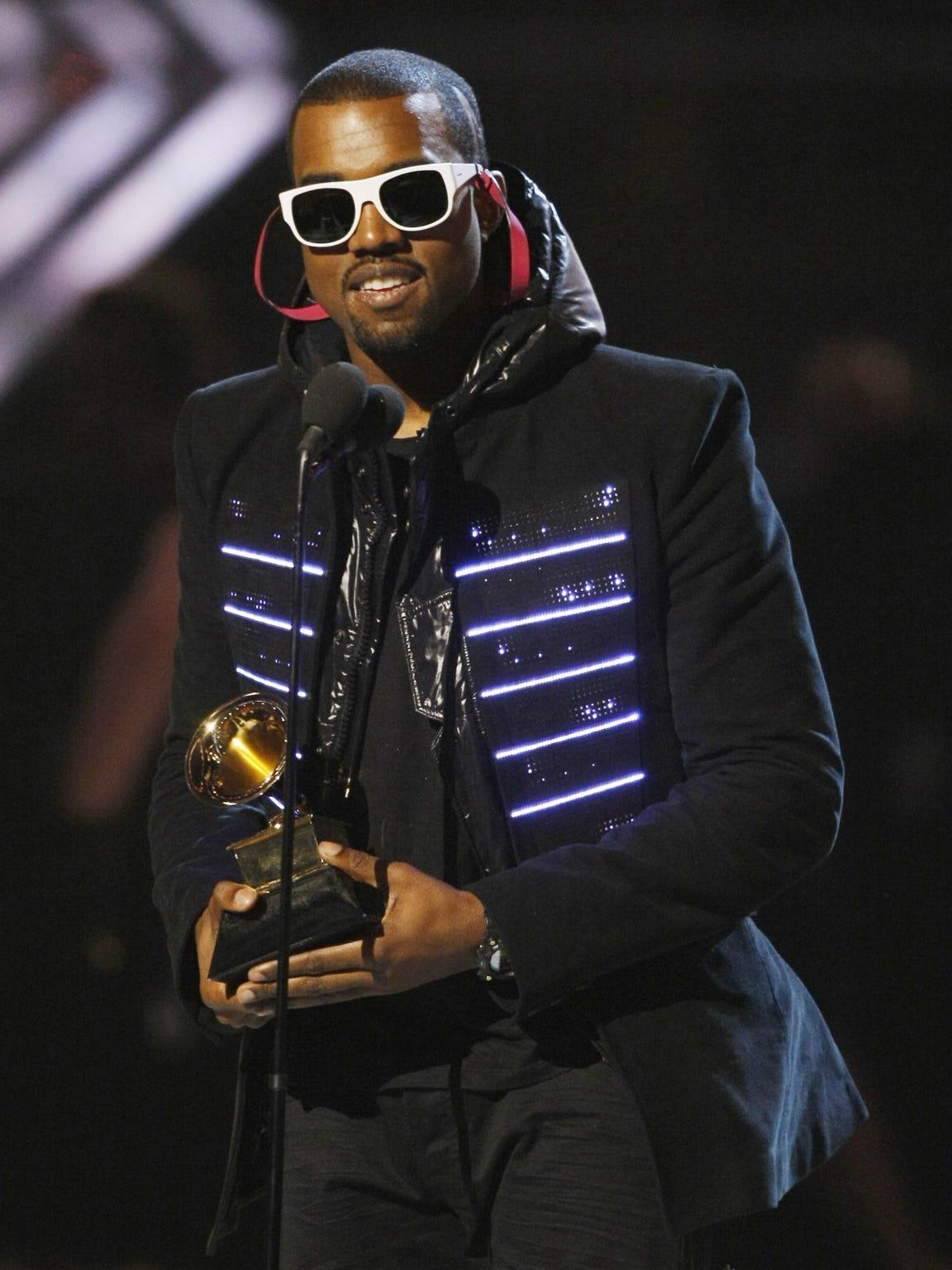 2008 winner for Best Rap Album Kanye West accepts the
