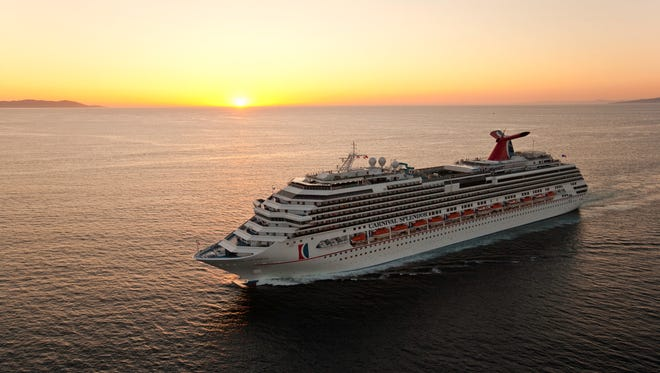 44. Carnival Splendor, built by Carnival Cruise Lines in 2008, weighs 113,300 GT and can hold 3,006 passengers at double occupancy.