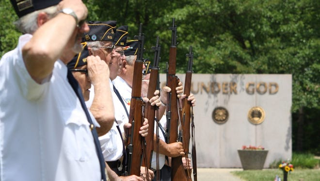 Veterans gathered at Arlington Memorial Gardens in Springfield Township for a special ceremony on Sunday.