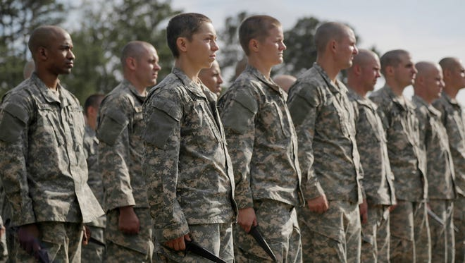 U.S. soldiers participate in  Ranger School at Fort Benning, Ga.., on April 20, 2015.