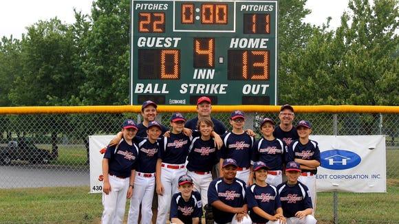 The North Asheville Little League 11U/12U baseball team.