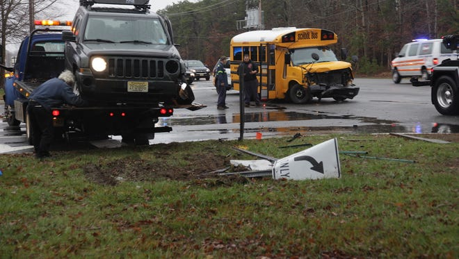 A school bus was involved in a crash in Stafford.