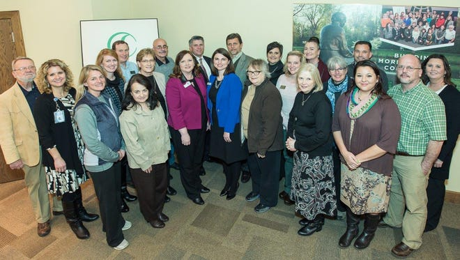 Pictured are representatives from the agencies included in the Collective Impact grant partnerships.