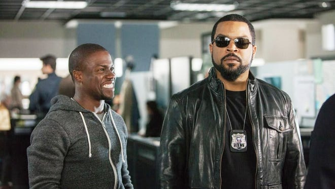 "Kevin Hart, left, and Ice Cube star in ""Ride Along 2."""