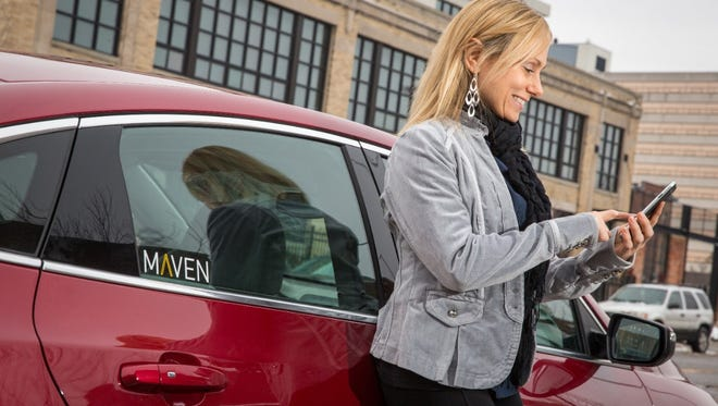 GM is launching a new ride-sharing service called Maven that will start out in Ann Arbor, Mich.