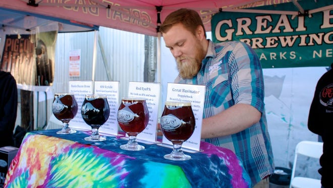 Great Basin Brewing serves beer at 2015 Freeze Your PInts Off.