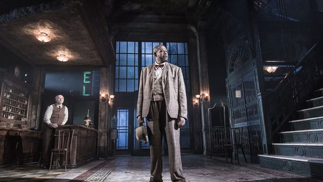 Forest Whitaker, front, makes his Broadway debut in a Broadway revival of Eugene O'Neill's 'Hughie.'
