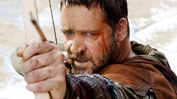 "Russell Crowe in a film version of ""Robin Hood."" We're"