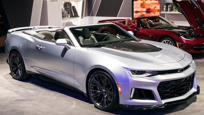 GM introduced the 2017 Camaro ZL1 at the New York International Auto Show in March. The car goes on sale late this year.