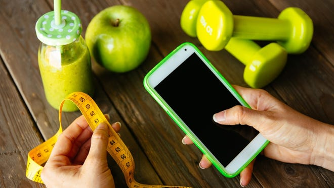 Using a health app on your mobile device can help you manage your fitness goals.