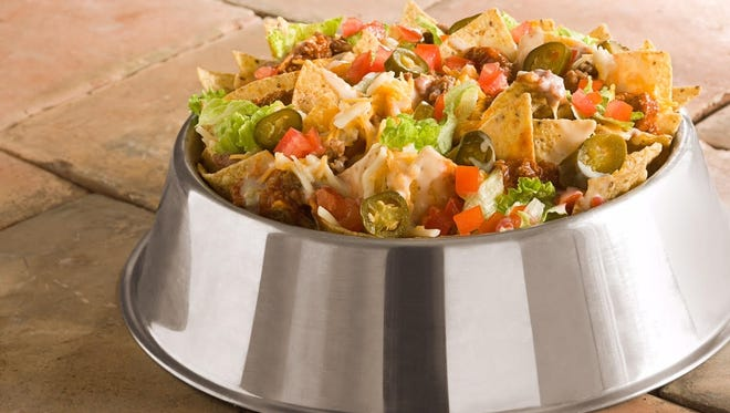 The Dog Bowl nachos from Double Dogs Chow House