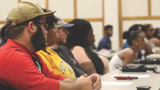 More than 200 people turned out for a forum to discuss ways to improve relations between various groups, especially between blacks and law enforcement.