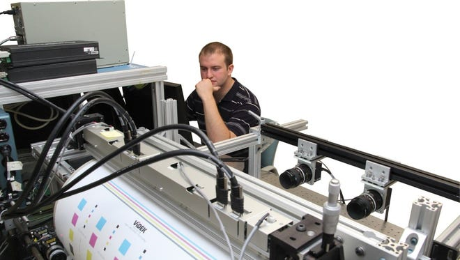 Videk's DocuVision set up in laboratory