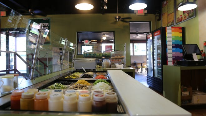 The ingredients used to prepare pitas at Pita Pit on Thursday, Aug. 25, in Tallahassee, FL.