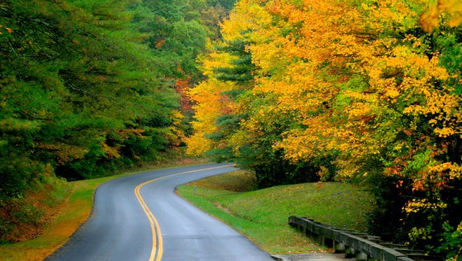 The Blue Ridge Parkway provides beautiful drives in the fall.