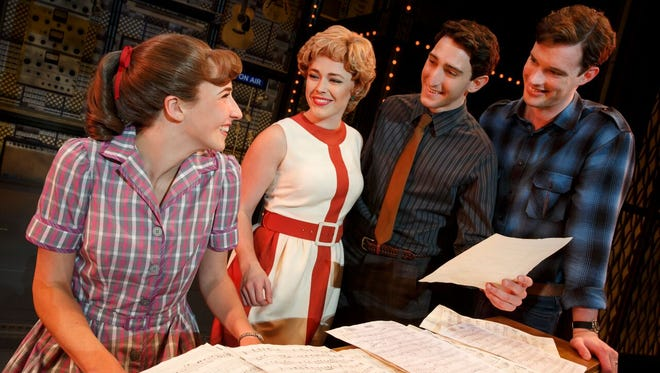 "The national tour of ""Beautiful - The Carole King Musical"" stars (from left) Julia Knitel, Erika Olson, Ben Frankhauser and Liam Tobin."